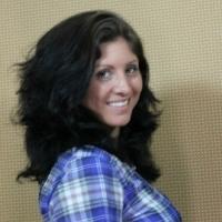 Katrina Poses before her haircut
