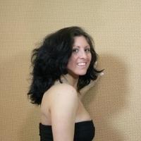 Smiling before hair cut
